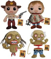 the blot says the walking dead plush figures by funko