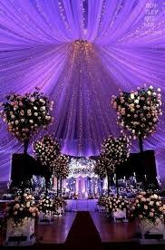 latest wedding decoration ideas in starry night inspired purple
