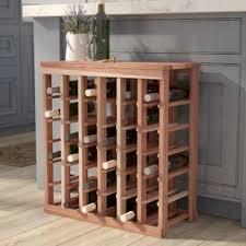 wine rack side table wine racks wine storage you ll love wayfair