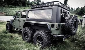 jeep wrangler grey 2017 crazy 6 wheeled jeep wrangler tomahawk a made in china beast