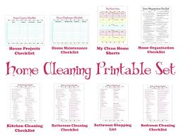 how to keep your house clean cleaning schedule printable set keep your house clean
