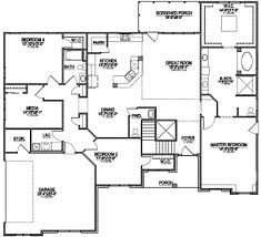 best one story floor plans pretty ideas best ranch house plans 3 open one story 4 bedroom