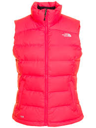 north face lixus jacket the north face womens nupste 2 gilet in red lyst