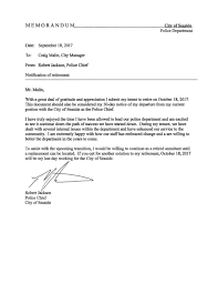 Letter Of Intent Law Enforcement by Seaside Police Chief Robert Jackson Resigns Effective Oct 18