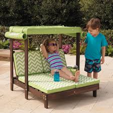 kidkraft outdoor double chaise lounge chair with canopy the kidkraft double chaise lounger will look perfect in any backyard kids feel so much more