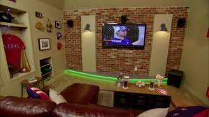 Man Cave Ideas For Small Spaces - stadium theater man cave video diy