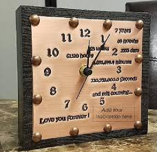 anniversary clocks engraved best 25 7th anniversary ideas on 7th wedding