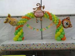 baby shower safari balloon decorations safari baby shower