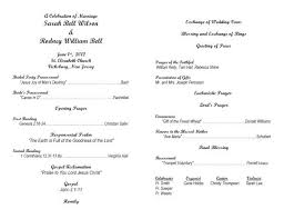 free sle wedding programs program templates for wedding tolg jcmanagement co