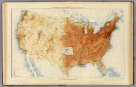 United States Map By Population by 6 Population 1890 David Rumsey Historical Map Collection