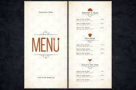 free restaurant menu templates for word archives mcaca