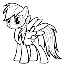 100 my little pony rainbow dash coloring page pony mlp