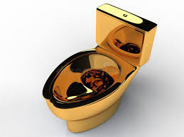 golden toilet bowl 3 royalty free stock image image 32577406