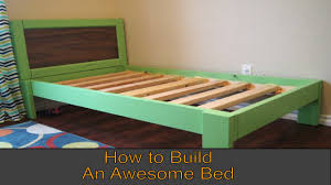 How To Make Wood Platform Bed Frame by Make A Diy Twin Bed In One Weekend Youtube
