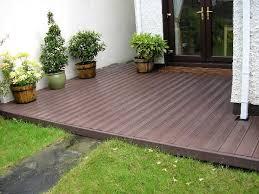 recycled deck garden design