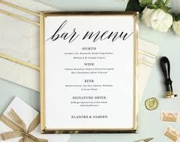 cocktail menu etsy