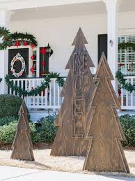 Home Holiday Decor by Photos Hgtv Outdoor Silhouette Christmas Trees Add Charm To Your