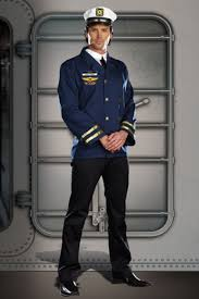 Mens Sailor Halloween Costume Navy Captain Hugh Vessel Men Sailor Captain Costume