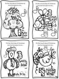 12 christmas mini coloring book u2013 bulletin board lady