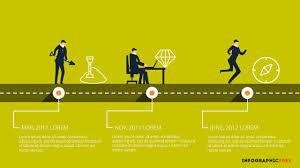 Free Powerpoint Timeline Template Human Vector Timeline Free Powerpoint Template Research And