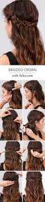 Easy Hairstyle Tutorials For Long Hair by Super Easy Diy Braided Hairstyles For Wedding Tutorials Crown