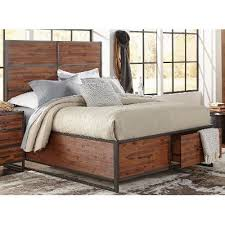 Queen Storage Beds With Drawers Warm Brown U0026 Metal Modern Rustic Queen Storage Bed Studio 16