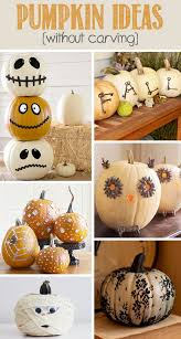 No Carve Pumpkin Decorating Ideas 8 Easy Pumpkin Ideas Without Carving
