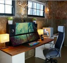gaming office setup pin by brad davis on gaming setups pinterest gaming setup desk