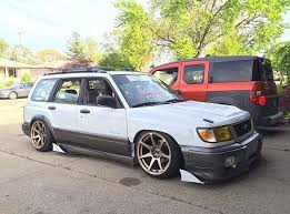 subaru forester lowered subaru forester modified lowered slammed stance camber