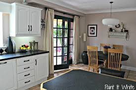 Remodelaholic Beautiful White Kitchen Update With Chalk Paint - Painting kitchen cabinets chalkboard paint