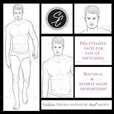 male runway croquis template adrian u2013 illustrator stuff