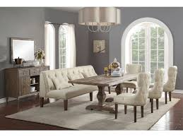 acme dining room furniture inverness 6 pc dining room table set