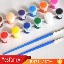 free samples 6 strip non toxic acrylic color paint 3ml eco
