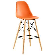 Modern Orange Bar Stools | modern bar stools truss orange bar stool eurway