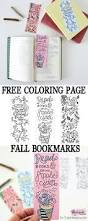 fall coloring page free printable fall bookmarks for coloring