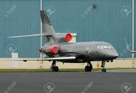 luxury private jet parket on a tarmac stock photo picture and
