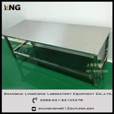 stainless steel corner work table lingxiong lab stainless steel corner work table with good price