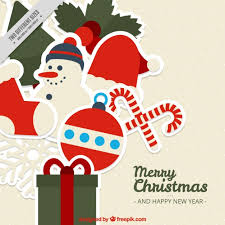 merry background with pretty ornaments vector free