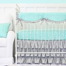 Crib Bedding Pattern Decorated Aqua Crib Bedding Home Inspirations Design