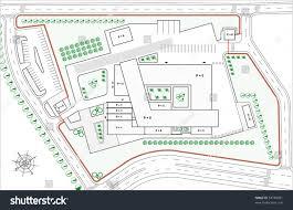 industrial building blueprint urban plan stock vector 53740561