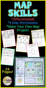 Make Your Own Map Make Your Own Map Project For Students Along With 5 Worksheets