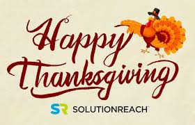 happy thanksgiving from the solutionreach family
