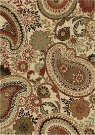 Brown Paisley Rug Orian Rugs Majestic Shag Rugs Collection Shoppypal