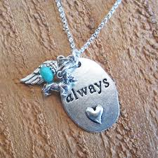charm necklace chain silver images Always angel wing mini dog charm necklace 30 quot ster silver chain JPG
