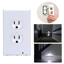 wall plate with built in night light wall outlet light plate wall outlet with built in night light