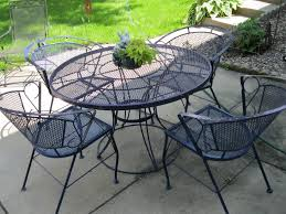 Iron Patio Table And Chairs Wrought Iron Patio Table Furniture Home Design By Fuller