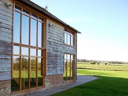 Modern Barn Large Modern Barn Huge Gray Metal Pole White Roof Door Cloudy