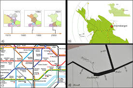 Cartogram Map Integrated Time And Distance Line Cartogram A Schematic Approach