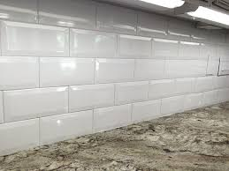 X Soft White Wide Beveled Subway Ceramic Tile Backsplashes Walls - Ceramic backsplash