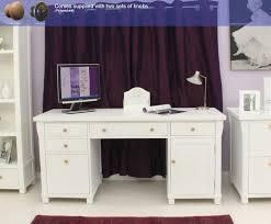Computer Armoire White by Baumhaus Hampton Twin Pedestal Computer Desk Amazon Co Uk